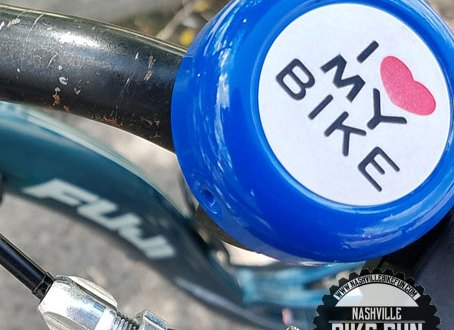 """Bike bell with """"I Love My Bike"""" written on it"""