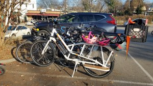 For perspective: 7 bikes that carried 9 humans can fit in 1 parking spot sized space. 1 SUV carrying 1 human fits (barely) in 1 parking spot sized spot.