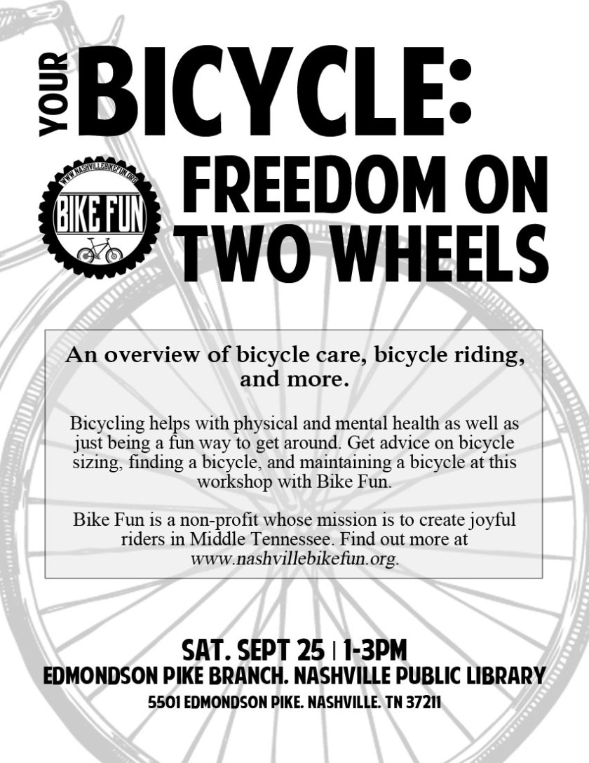 Your Bicycle Freedom on Two Wheels flyer
