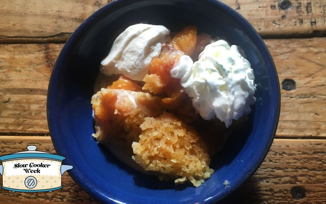 Make bourbon peach cobbler in a Crock Pot