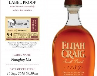 """Elijah Craig Introduces a 10 Year Single Barrel the """"Naughty List"""" Limited Release to its extensive award-winning portfolio"""