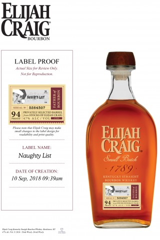 "Elijah Craig Introduces a 10 Year Single Barrel the ""Naughty List"" Limited Release to its extensive award-winning portfolio"