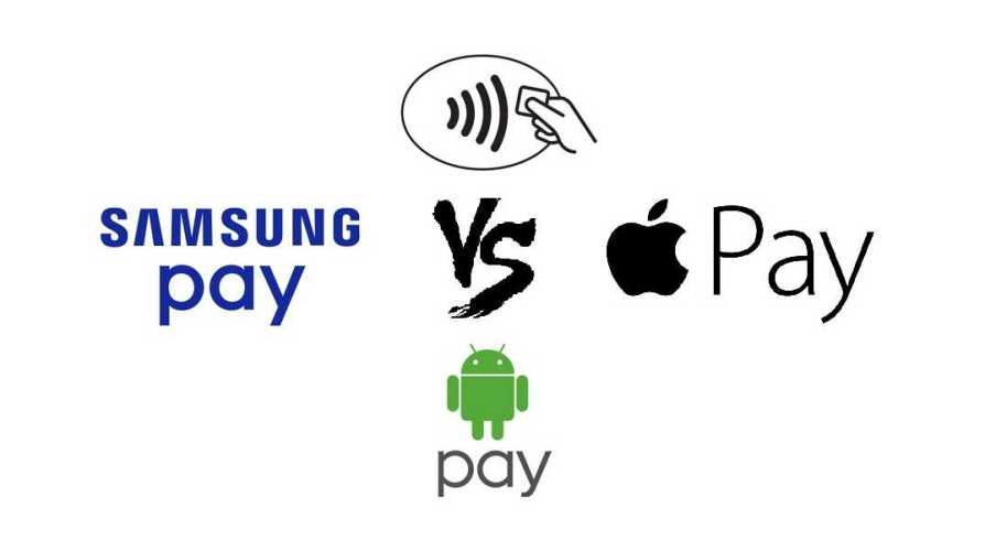 Apple Pay, Samsung Pay and Android Pay