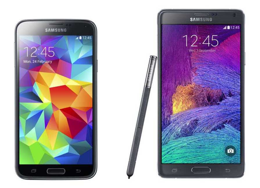 Samsung Galaxy Note 5, Note 4 and Galaxy S5