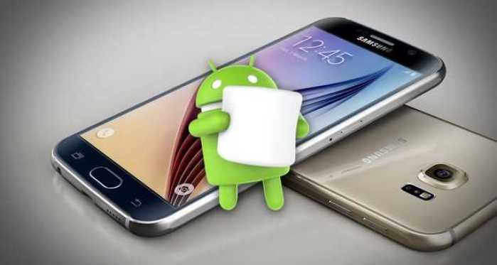 Samsung Galaxy S6 Android Marshmallow