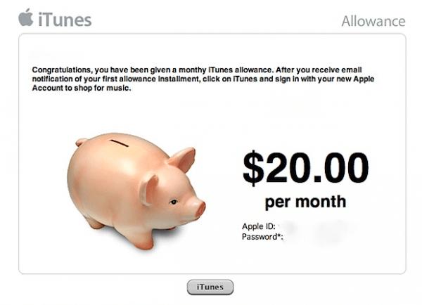 Apple iTunes Allowance