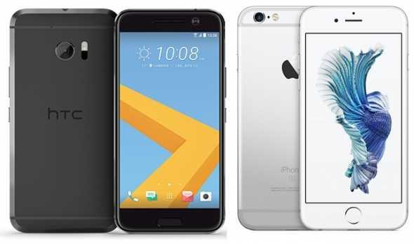HTC 10 vs. iPhone 6S