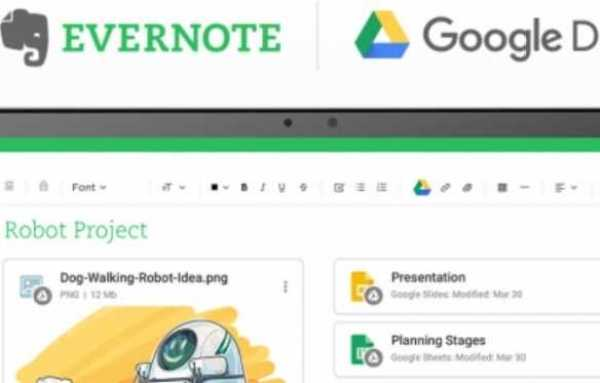 Evernote Gets A Google Drive
