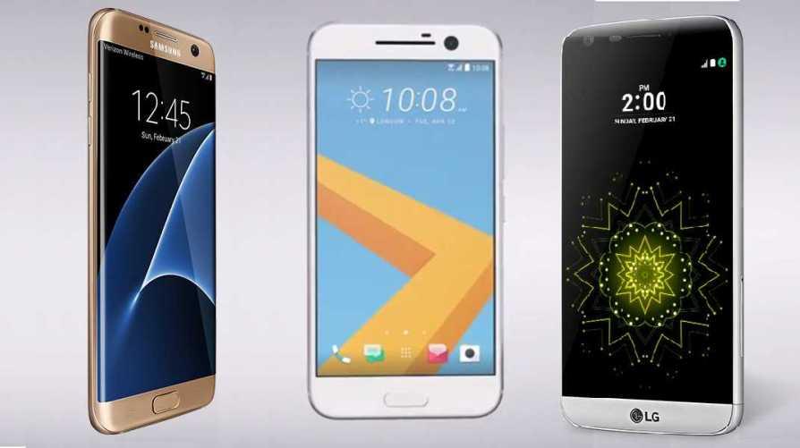 OnePlus 3 vs Samsung Galaxy S7 Edge vs. LG G5 vs. HTC 10