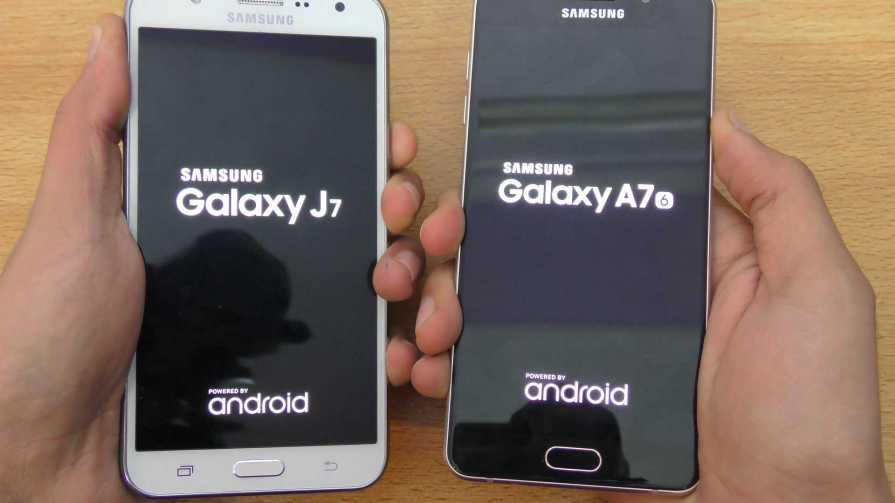 Samsung Galaxy A7 vs Galaxy J7 (2016)