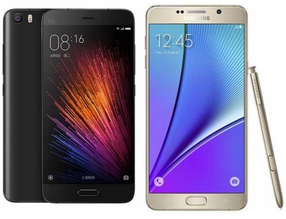 Xiaomi Mi5 vs Samsung Galaxy Note 5