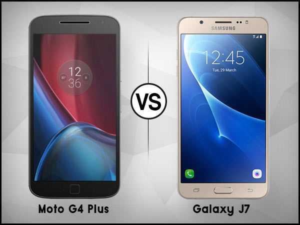 Samsung Galaxy J7 vs Moto G4 Plus