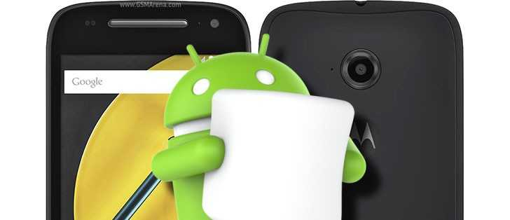 Moto E Android Marshmallow