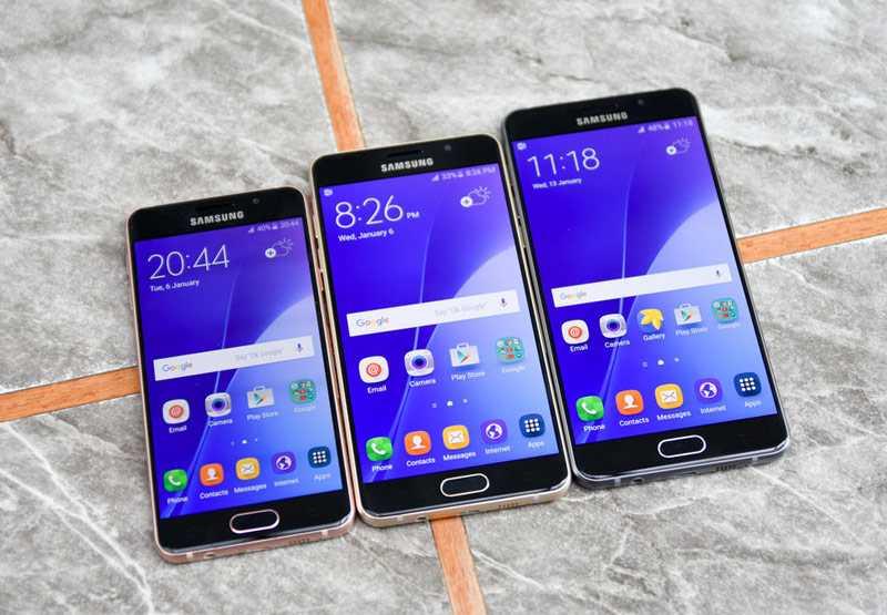 Galaxy A5, Galaxy A3 and Galaxy A7