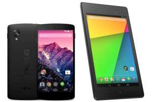 Nexus 5 and Nexus 7