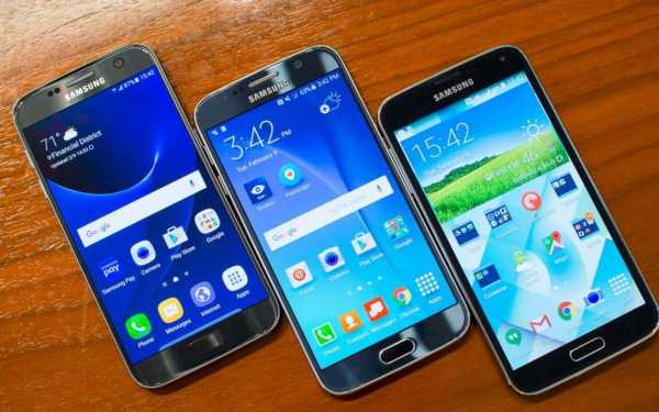 Samsung Galaxy S7, S5 and S6