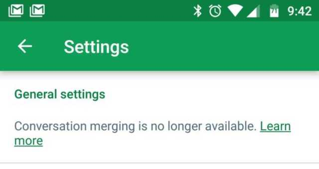Google Removed Merging of Conversations