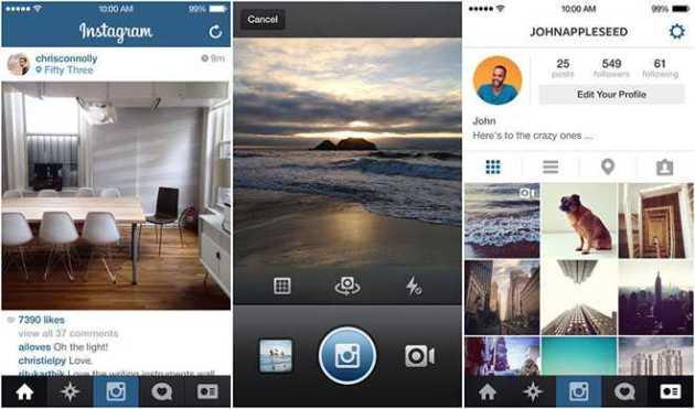 Instagram Redesigns its iOS App