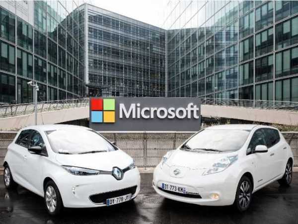 Renault Nissan Partner with Microsoft