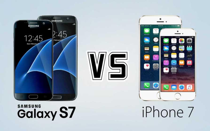 iPhone 7 vs Galaxy S7