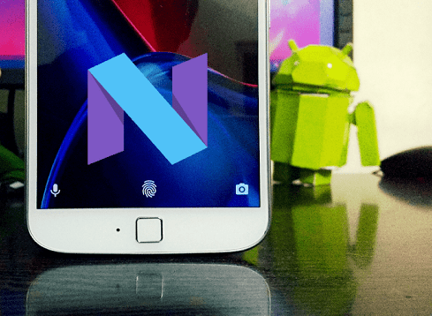 Android Nougat for Moto G4 Plus