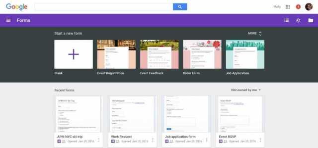 G Suite Google Forms
