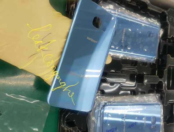 Galaxy S7 Edge Blue Coral on Verizon