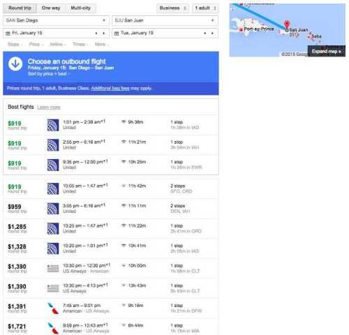 Google Flights Best Flight Options