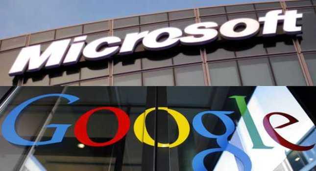 Google and Microsoft