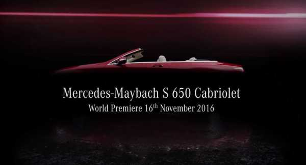 2017 Mercedes Maybach S650 Cabriolet