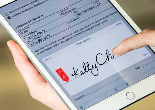 Acrobat Reader electronic signature