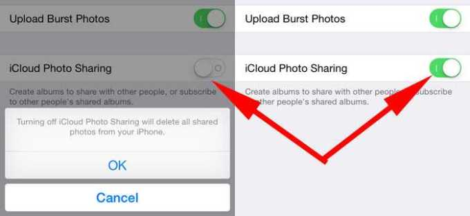 Disable iCloud Photo Sharing