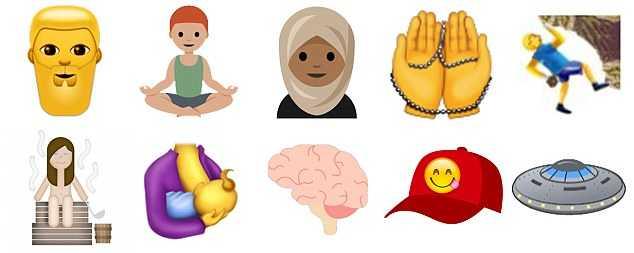 unicode 10 diverse emojis