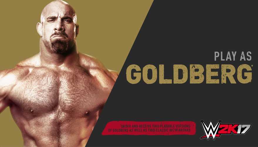 WWE 2K17 DLC Goldberg Pack