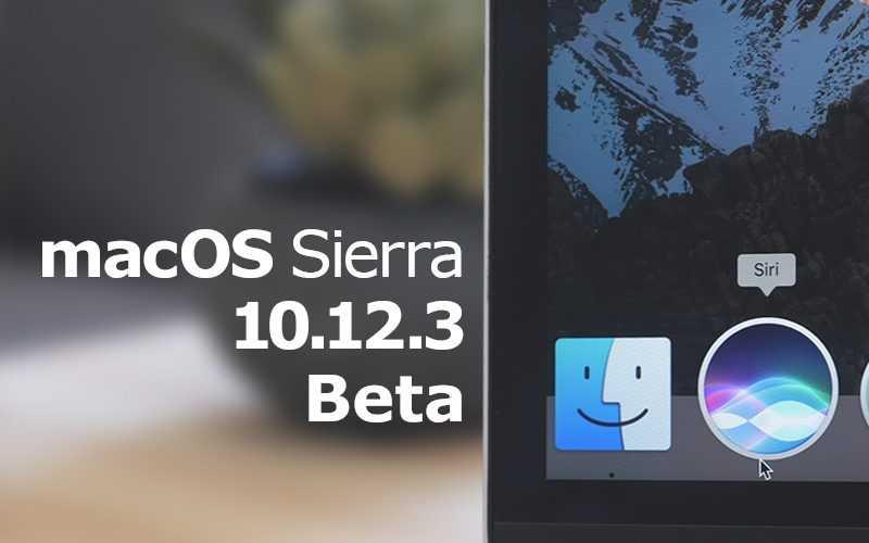 Apple macOS Sierra 10.12.3 Beta