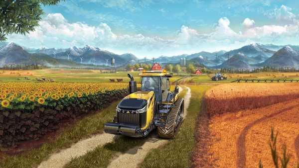 Xbox One with Farming Simulator 2017