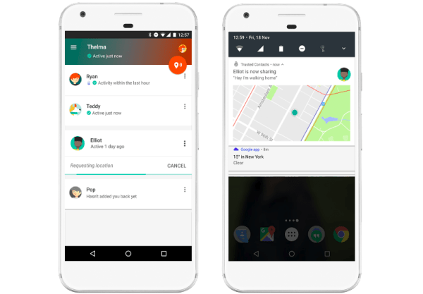Google New App Trusted Contacts