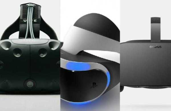 HTC Vive, Oculus Rift and PlayStation VR