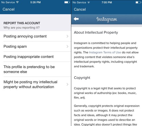Instagram Anonymous Reporting of Posts