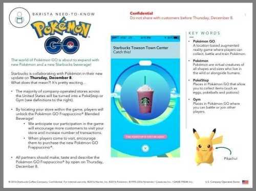 Pokemon Go Ties Up with Starbucks