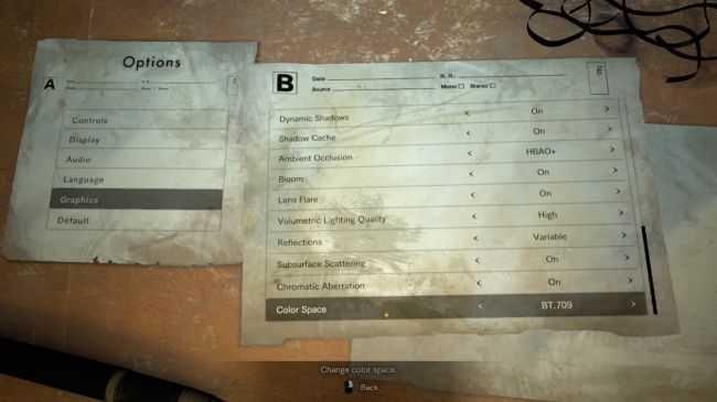 Resident Evil 7 Graphic Settings