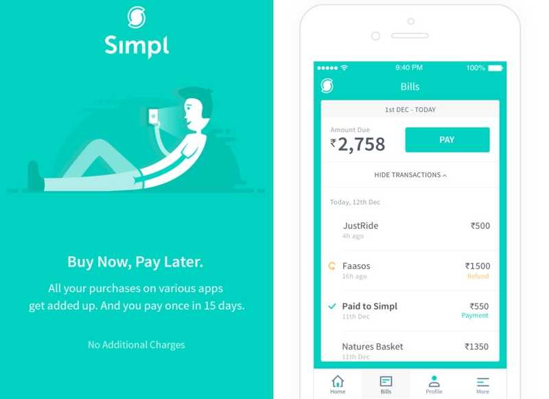 Simpl an Anti-Wallet App