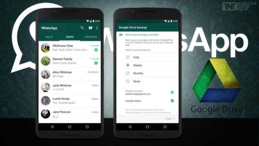 WhatsApp Backup Folder on Google Drive