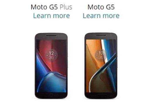 Moto G5 and G5 Plus