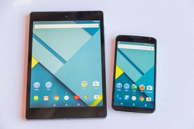 Google Nexus 6 and Nexus 9