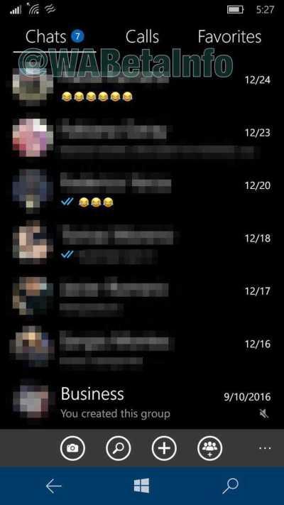 WhatsApp beta New UI