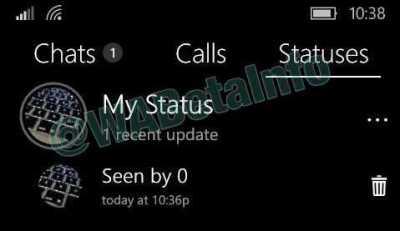 Whatsapp Beta Status Screen