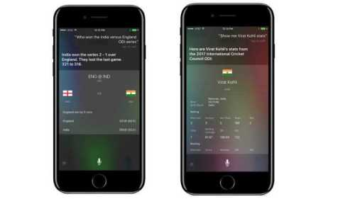 iOS 10.3 Set Cricket Scores via Siri