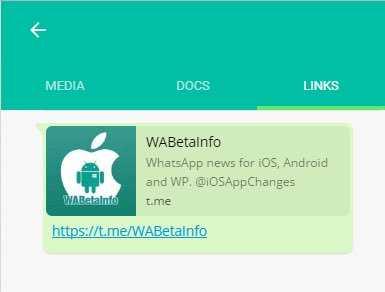 WhatsApp Web links appear in new UI