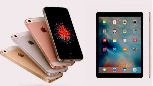 Apple iPad Pro 2, iPhone SE and iPhone 7
